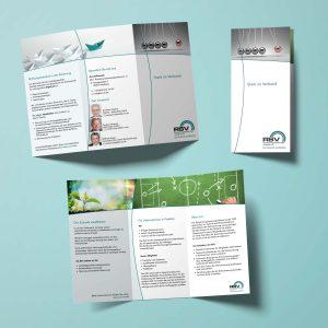 Faltblatt für den RSV Rohrleitungssanierungs Verband