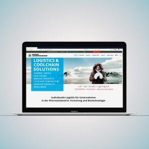 Website für Pharma Logistik